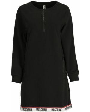 Czarna sukienka na co dzień bawełniana Moschino Underwear