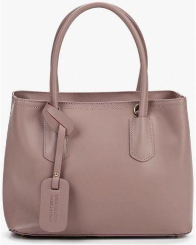 Кожаная сумка итальянский розовый Lamania