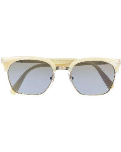 Белые солнцезащитные очки квадратные металлические Persol