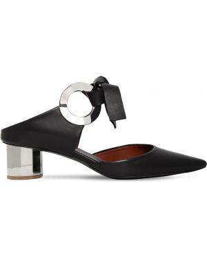 Кожаные туфли металлические на каблуке Proenza Schouler