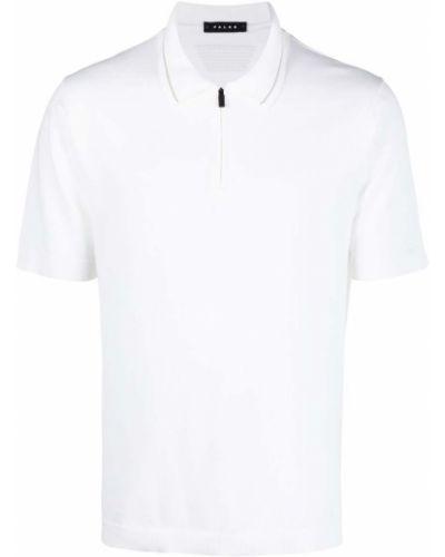 Biała klasyczna koszula krótki rękaw bawełniana Falke