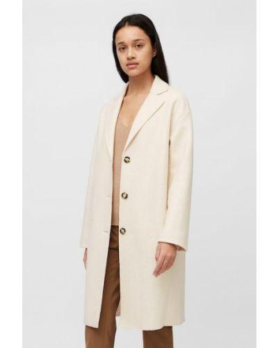 Biały klasyczny płaszcz Marc O Polo