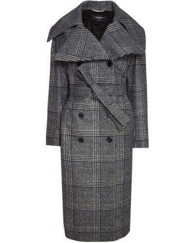 Пальто в клетку шерстяное Rochas