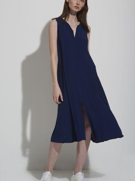 Платье со складками из вискозы Vassa&co