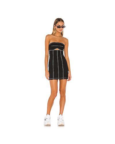 Платье мини с вырезом черное H:ours