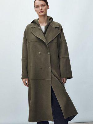 Коричневое зимнее пальто Massimo Dutti