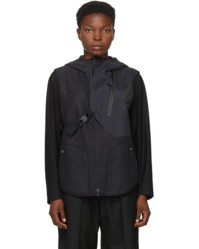 Асимметричная черная жилетка с карманами без рукавов Y-3