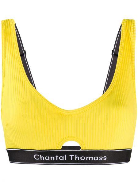 Żółty prążkowany biustonosz Chantal Thomass