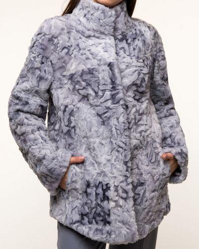 Куртка с мехом - голубая Dzhanbekoff