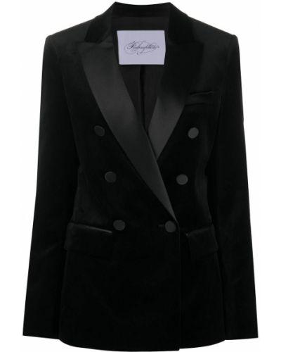Вечерний черный пиджак с карманами на пуговицах Redemption
