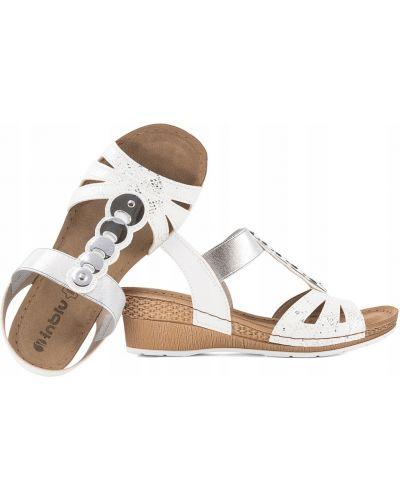Ażurowe brązowe sandały skorzane Inblu
