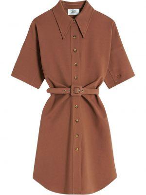Коричневое хлопковое платье Victoria, Victoria Beckham