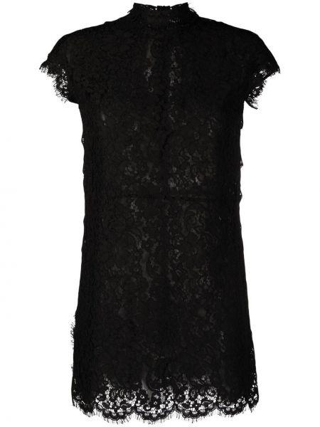 Ажурное черное платье мини трапеция Dsquared2