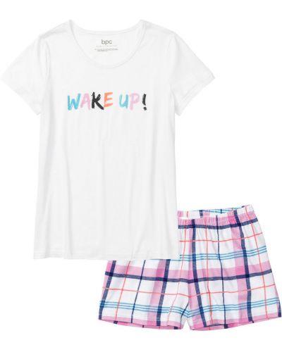 Пижама с шортами свободная с принтом Bonprix