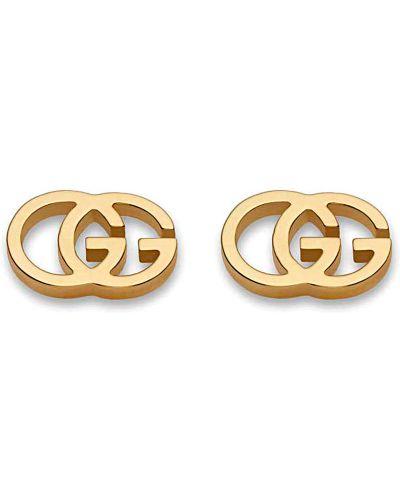 Żółte złote kolczyki sztyfty Gucci