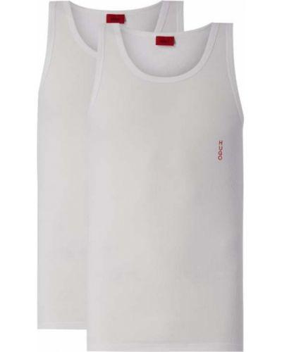 Bawełna bawełna biały top z dekoltem Hugo