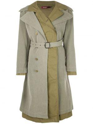 Пальто с воротником с поясом на пуговицах двубортное Sies Marjan