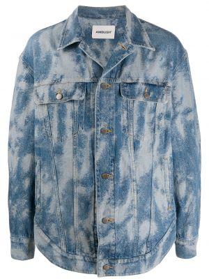 Niebieskie jeansy zapinane na guziki bawełniane Ambush