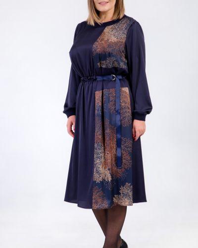 Шелковое платье - синее Petro Soroka