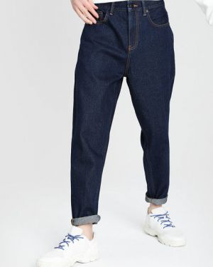 Зауженные широкие джинсы с карманами на пуговицах свободного кроя Ostin