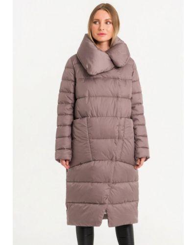 Коричневая утепленная куртка Lab Fashion