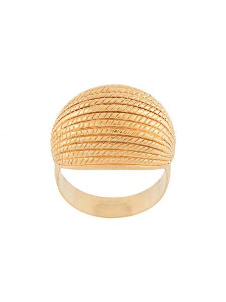 Золотистое кольцо золотое Monet Pre-owned