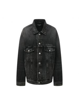 Хлопковая серая джинсовая куртка Balenciaga