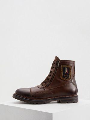 Коричневые ботинки осенние Aeronautica Militare
