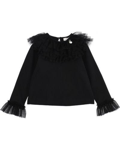 Czarna t-shirt Monnalisa