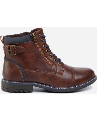 Ботинки на каблуке - коричневые Lanetti