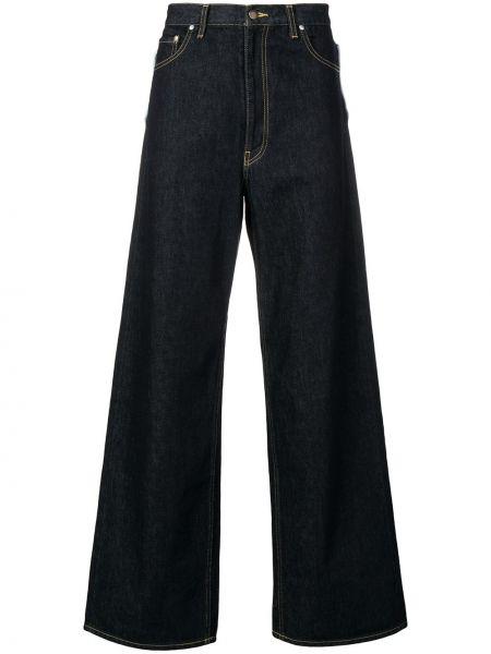 Niebieskie jeansy bawełniane rozkloszowane Facetasm