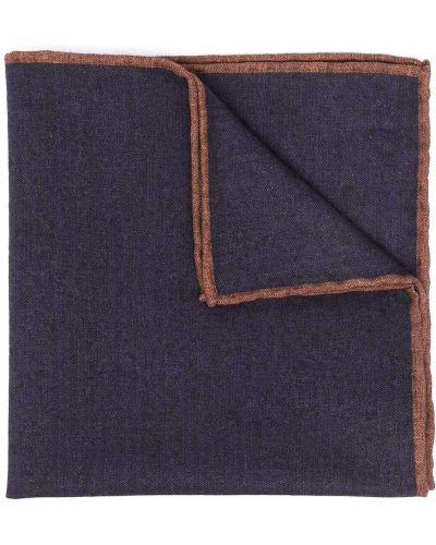 Синий шерстяной платок с декоративной отделкой Eleventy
