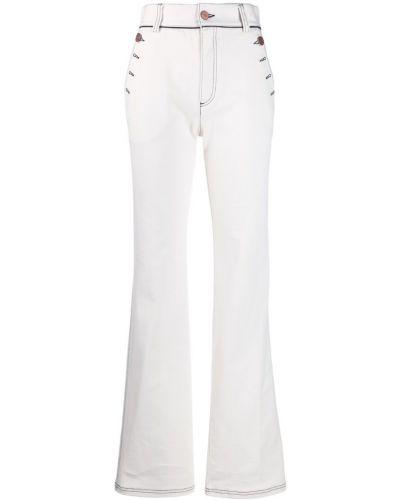 Расклешенные джинсы с карманами с поясом See By Chloe