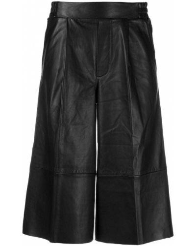 Bezpłatne cięcie czarny spodnie culotte bezpłatne cięcie z kieszeniami Remain