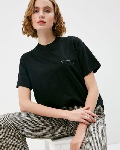 С рукавами черная футболка The Kooples