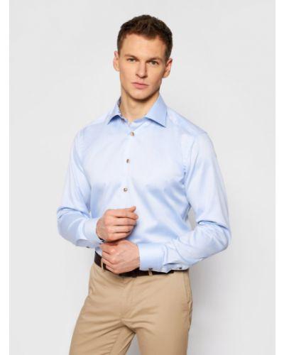 Niebieska koszula slim Eton