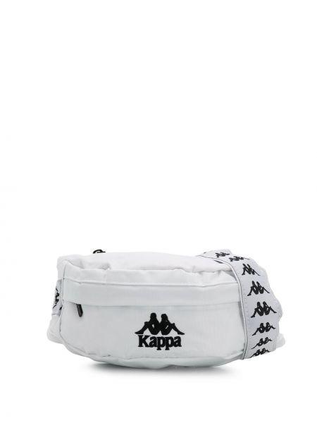 Biały pasek z paskiem z haftem Kappa
