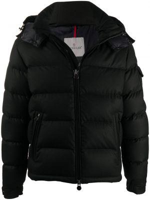 Czarna kurtka pikowana wełniana Moncler
