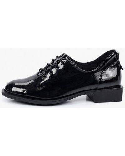 Лаковые черные кожаные ботинки Covani