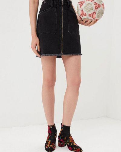 Джинсовая юбка черная Urban Bliss