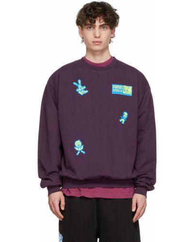 Sweter bawełniany - fioletowy Stray Rats