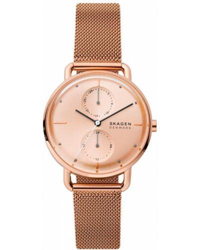 Różowy zegarek z siateczką Skagen