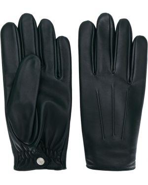 Желтые кожаные перчатки Sandro Paris