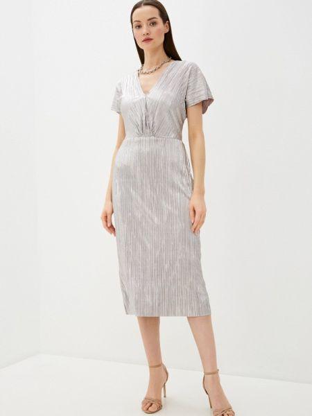 Вечернее платье серебряный весеннее Wallis