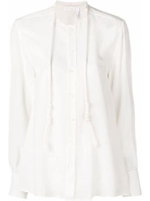 Шелковая блузка - белая Chloé
