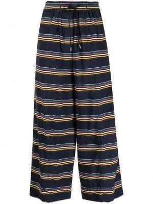 Синие нейлоновые брюки Paul Smith
