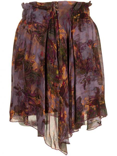 Fioletowa spódnica z wiskozy Iro