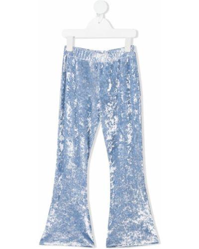 Расклешенные синие с завышенной талией брюки Sonia Rykiel Enfant