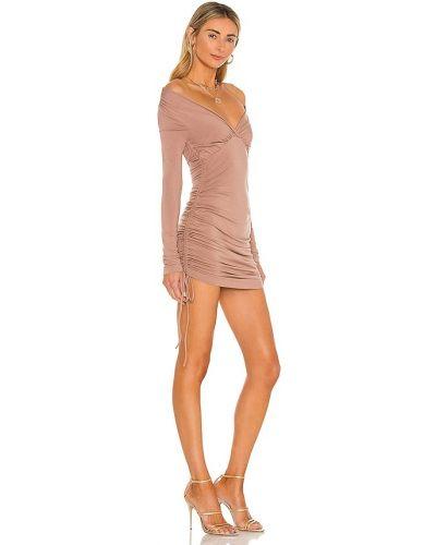 Szampańska sukienka mini z długimi rękawami z wiskozy Nbd