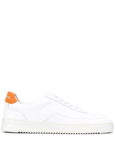 Skórzane sneakersy białe mieszkanie Filling Pieces